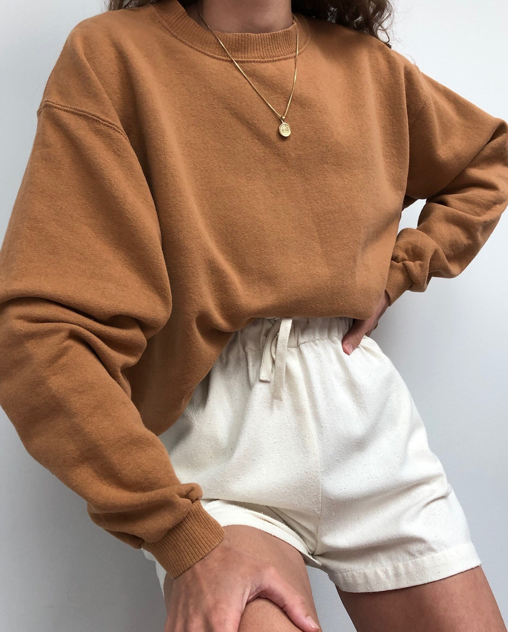 Vintage Faded Rust Cotton Pullover