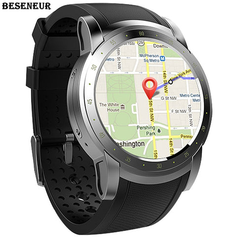 "1.39"" Beseneur GPS Google Maps SmartWatch with Heart Rate Monitor, Fitness Tracker Passometer, SIM Card, Wifi & Bluetooth for Android or iPhone"