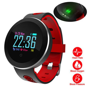 Sport SmartWatch, Blood Pressure, Heart Rate Monitor, Fitness Tracker, Pedometer, OLED Touchscreen, Waterproof for Men and Women