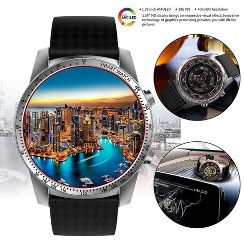 "1.4"" Bluetooth SIM SmartWatch with GPS, Heart Rate, Pulse & Sleep Fitness Tracker Sensor for Android Mobile & iPhone"