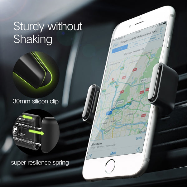 Ugreen Phone Holder No Magnetic Air Vent Mount Stand Smartphone Support Holder in Car for iPhone XR Mobile Phone Holder Stand