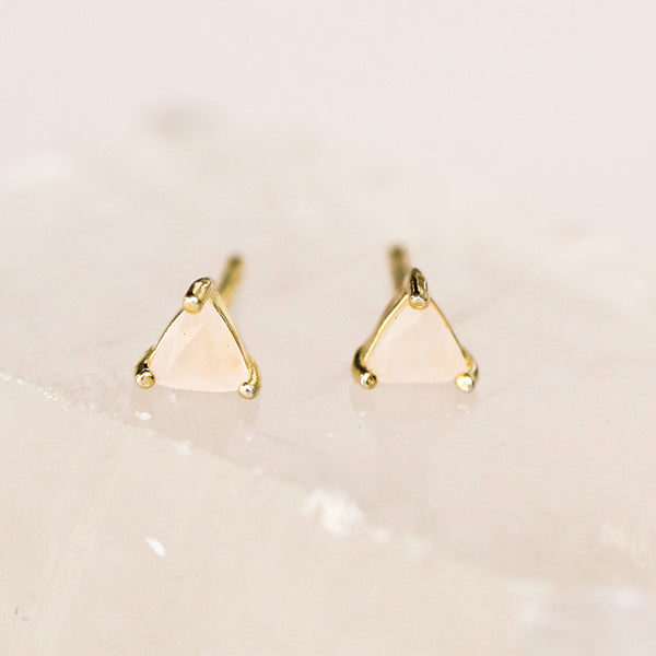 Rose Quartz Love Studs