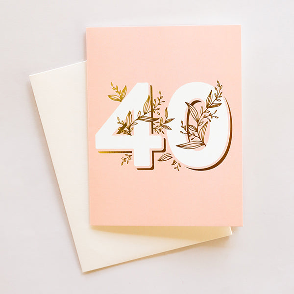 No. 40 Floral Greeting Card