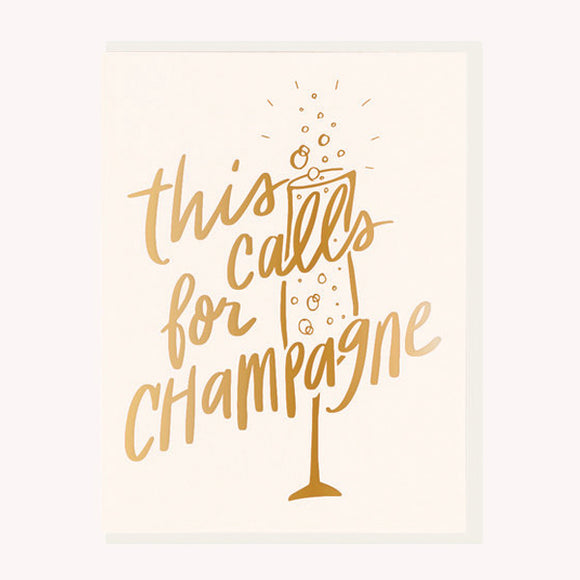 This Calls for Champagne Card