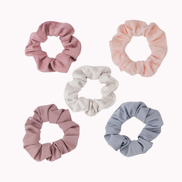 Matte Scrunchies - Blush/Mauve