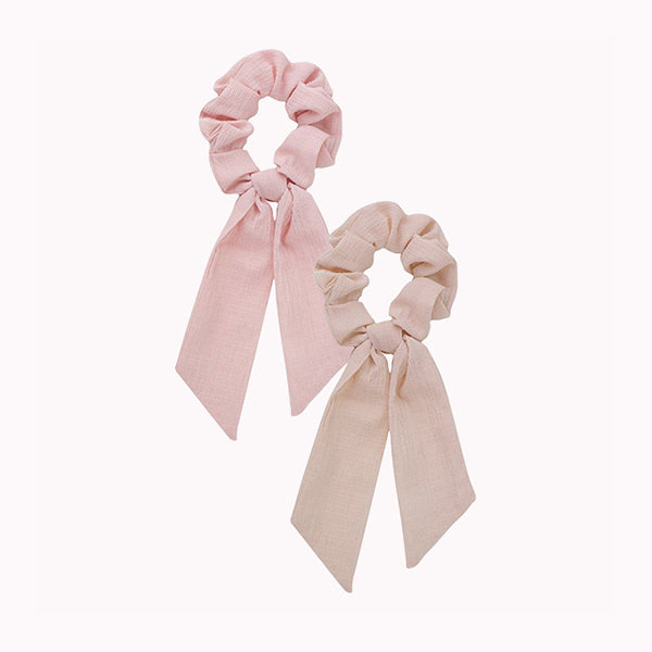 Scarf Scrunchies - Blush/Mauve