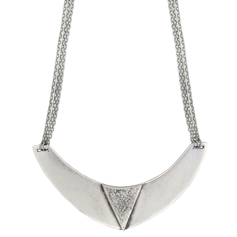 Egyptian Collar Necklace - Antiqued Silver