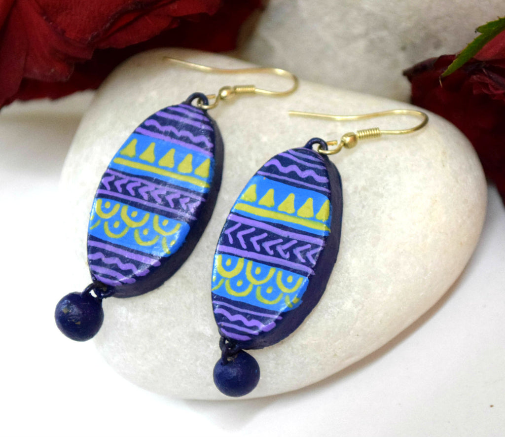 Lilac Terracotta Earrings