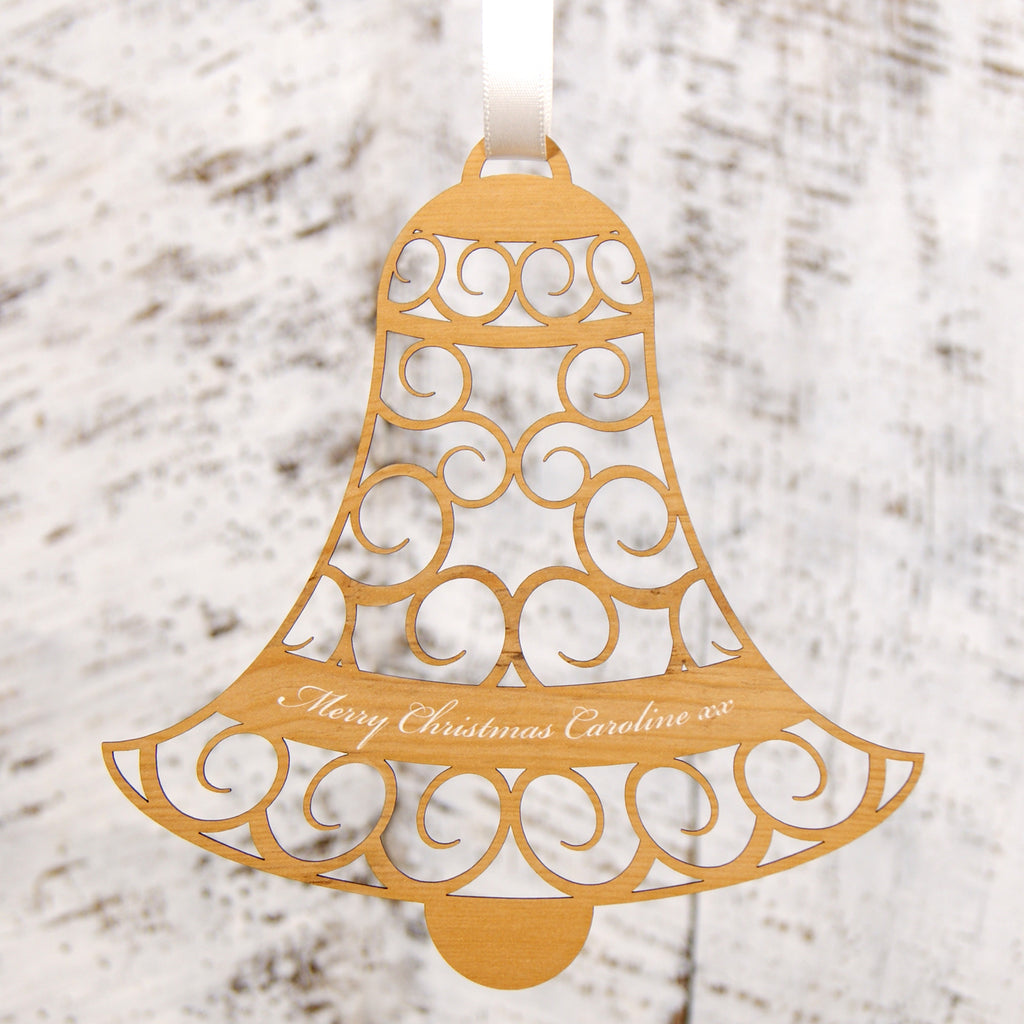 Personalised Christmas Decoration - Hanging Bell