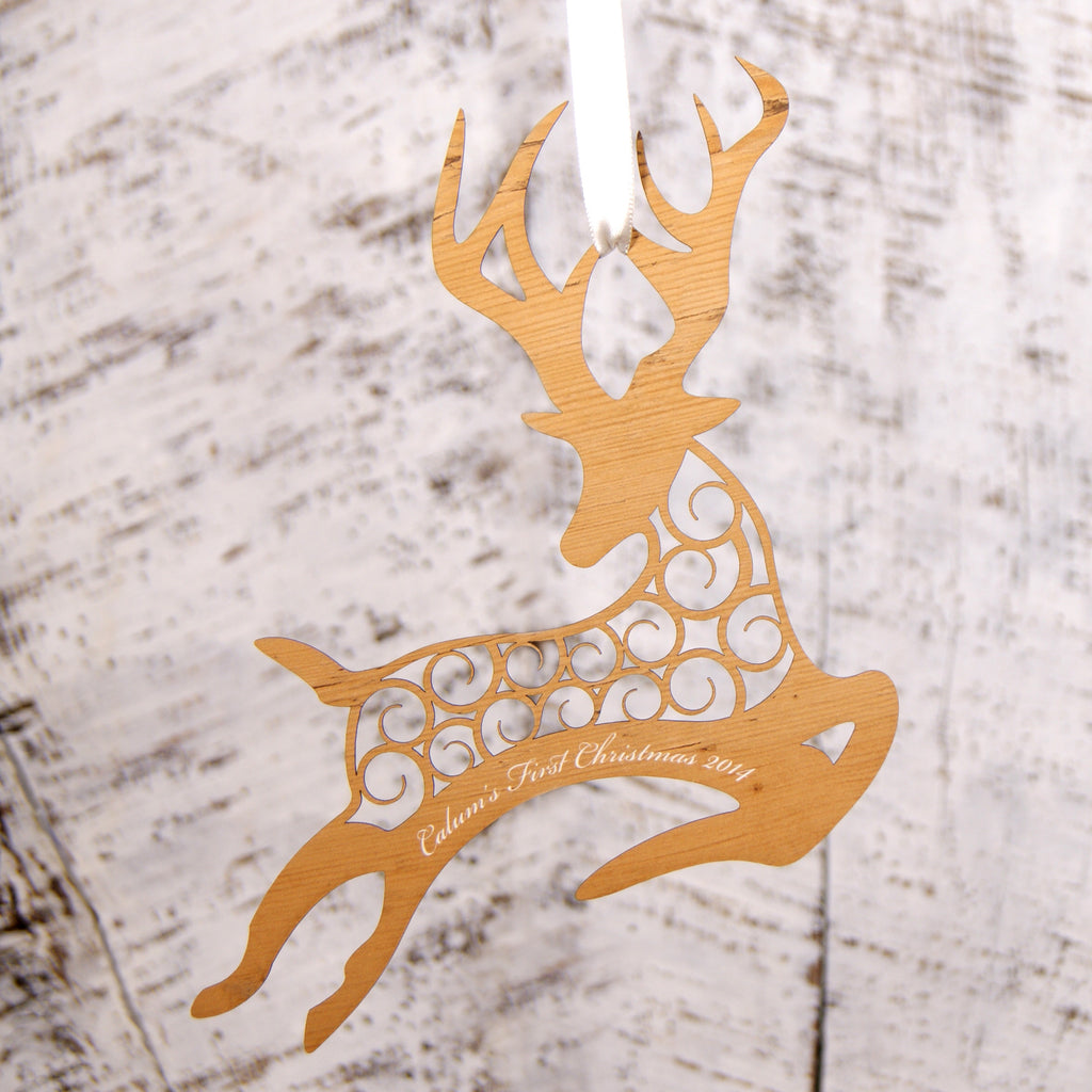 Personalised Christmas Decoration - Reindeer