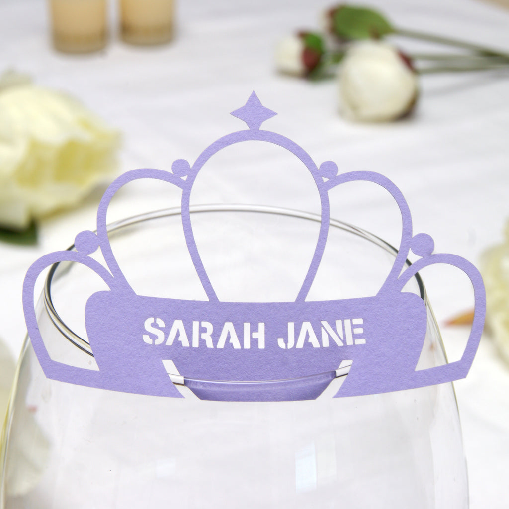 Tiara Place Card in Lavender
