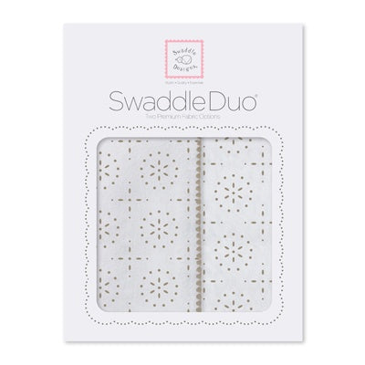 Swaddle Designs Swaddle Duo Taupe Grey Sparklers