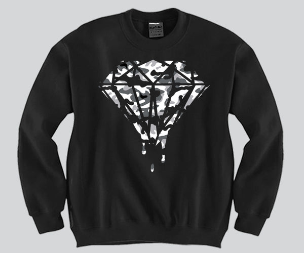 Diamond Camo Crewneck Funny and Music