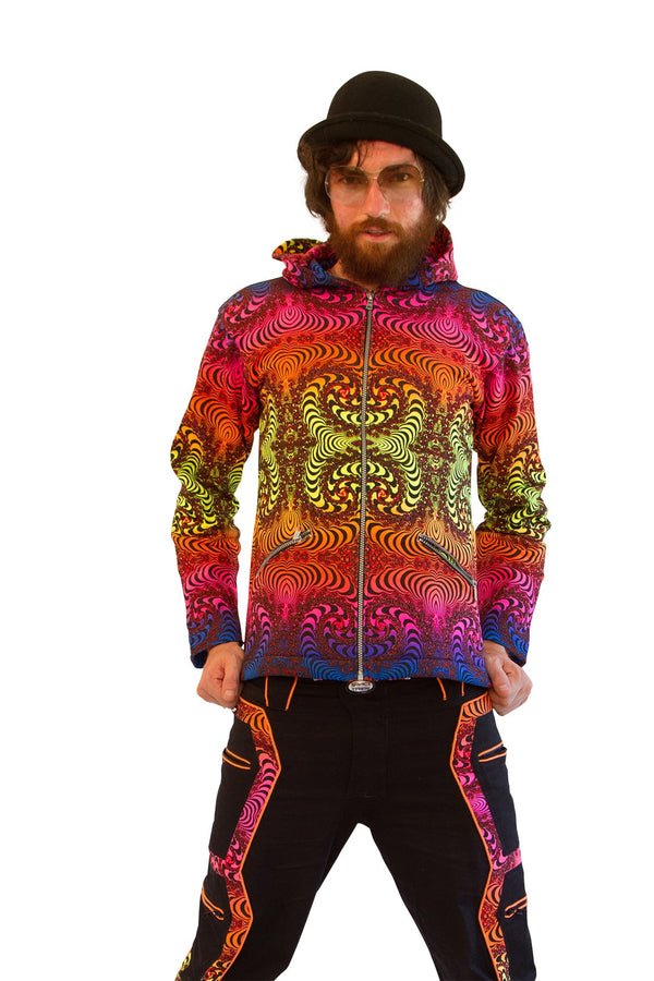 Hooded Zip Jacket : Fractal