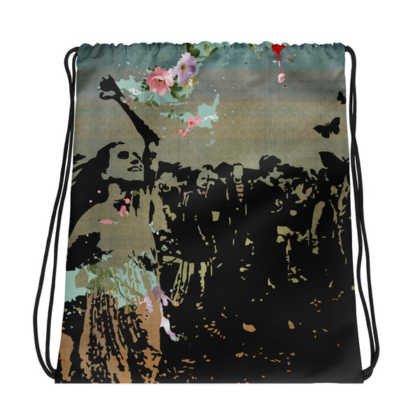 Catching The Energy Drawstring bag