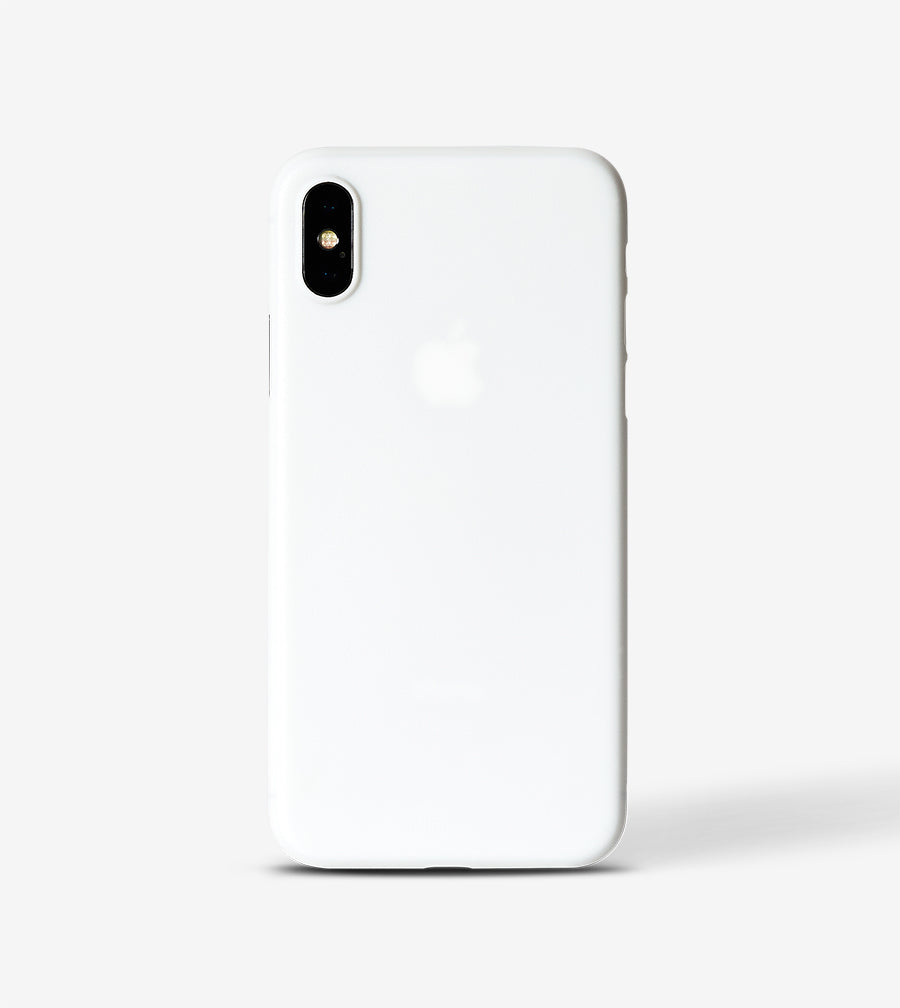 chimpcase iPhone XS Skinny Case - solid white