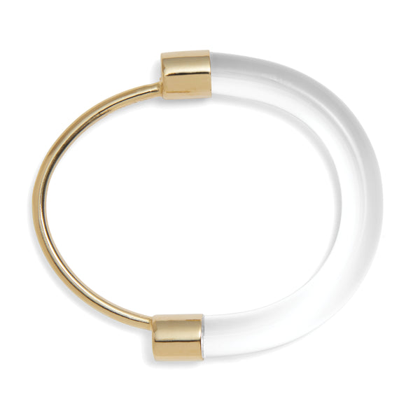 Fraction Bracelet in Gold and Clear