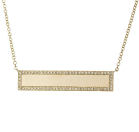 Athens Diamond ID Bar Necklace