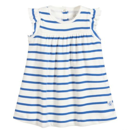 Petit Bateau Body Dress Stripe Royal Blue
