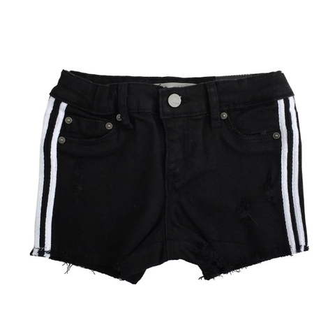 Tractr Shorts Black with White Stripe
