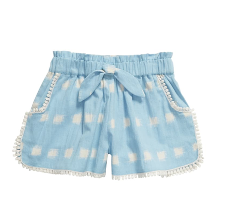 Lali Girls ShortsBlue Ikat