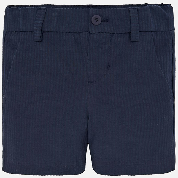 Mayoral Navy Seersucker Bermuda Shorts