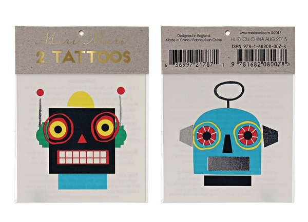 Meri Meri Robot Mini Tattoos