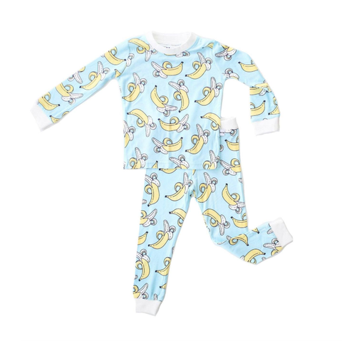 Little Sleepies Banana Two Piece Bamboo Pajama Set