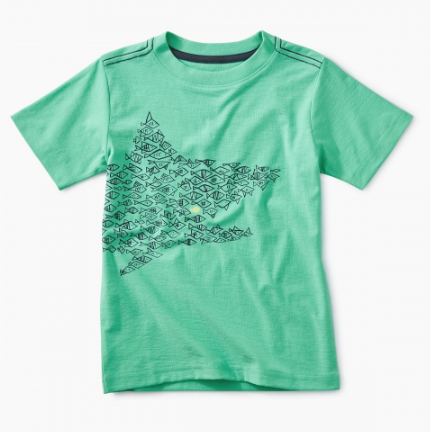Tea Collection One Big Fish Graphic Tee Caribbean Green