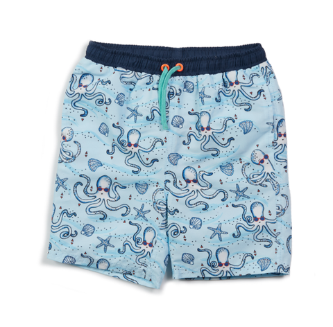 Egg Drake Swim Trunk Blue Octopus