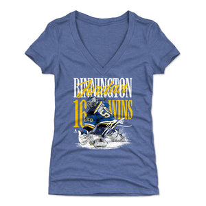 Jordan Binnington Women's V-Neck T-Shirt | 500 LEVEL