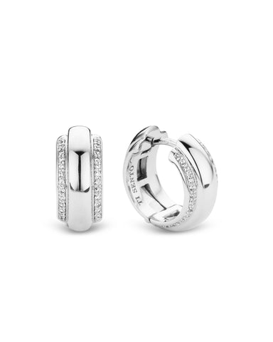 Ti Sento Sterling Silver & Cubic Zirconia Hoop Earrings