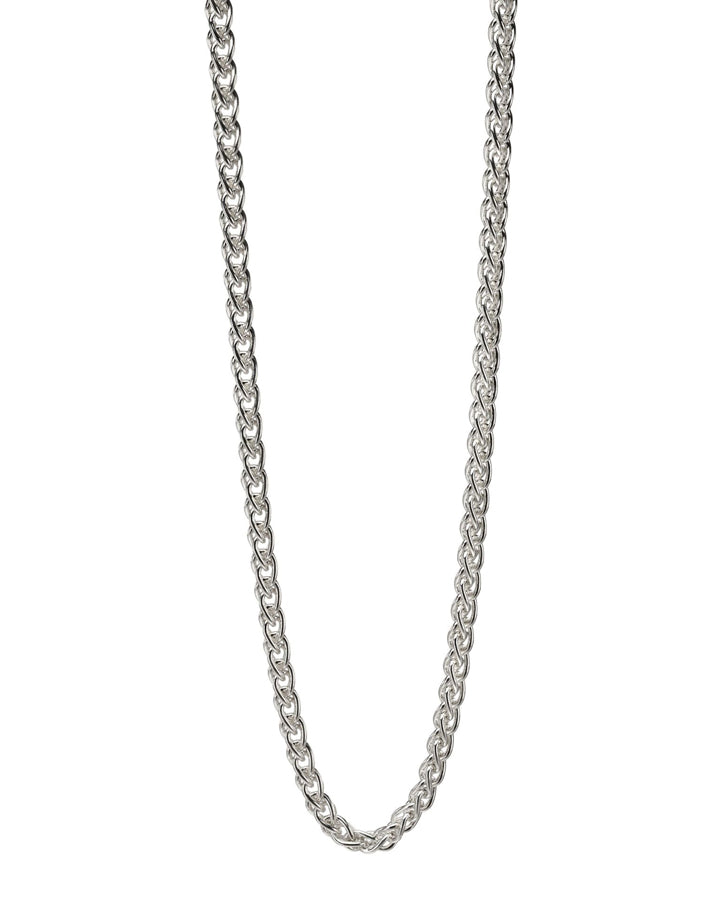 FRED BENNETT MEN'S STERLING SILVER SPIGA LINK NECKLACE - N4148