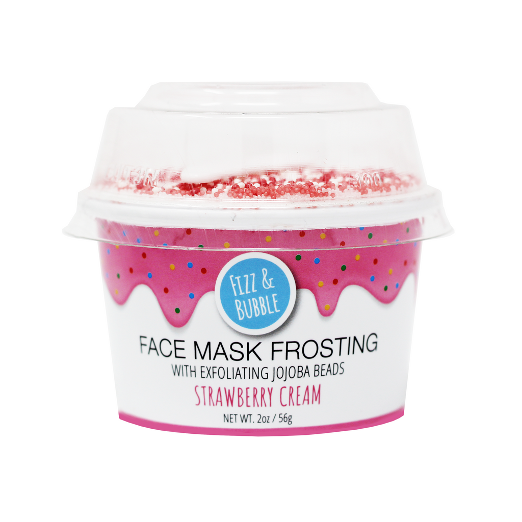 Strawberry Cream Face Mask Frosting from Fizz & Bubble