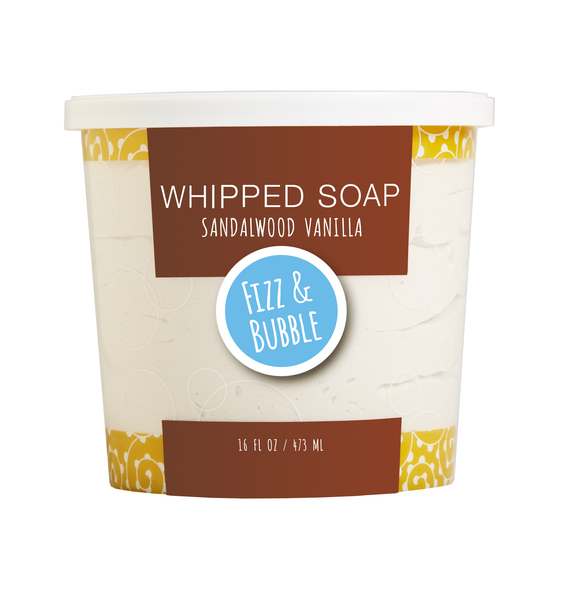 Sandalwood Vanilla Whipped Soap from Fizz & Bubble