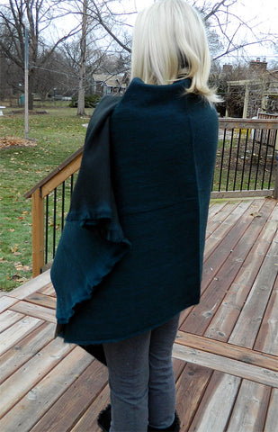Alpaca Wrap - Forest Green