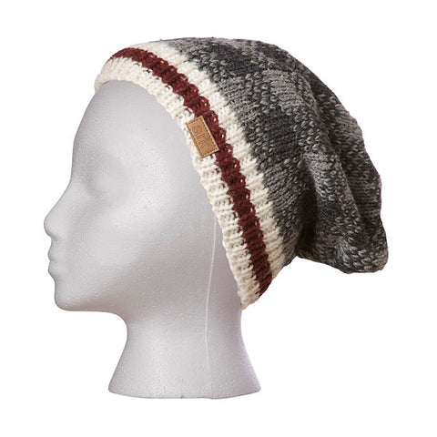 Hat - Grey Check Slouch Toque