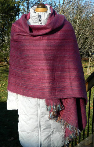 Alpaca Wrap - Fuschia Jose