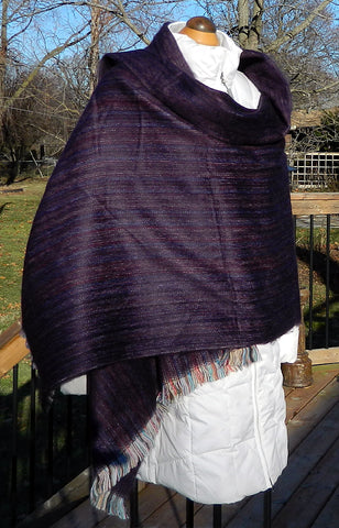 Alpaca Wrap - Plum Jose