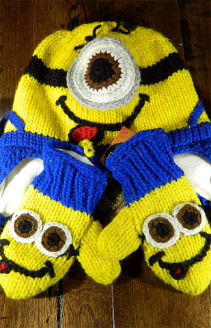 Hat & Mitts - Kids Minion Hat & Mitt Set
