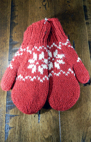 Mittens - Red Nordic Mitts