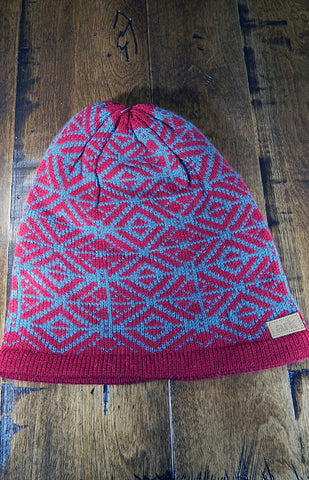 Hat - Maroon & Grey Toque