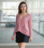 Mauve Surplice Top