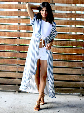 Striped Vacation Duster