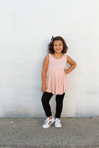 Girls blush swing tunic
