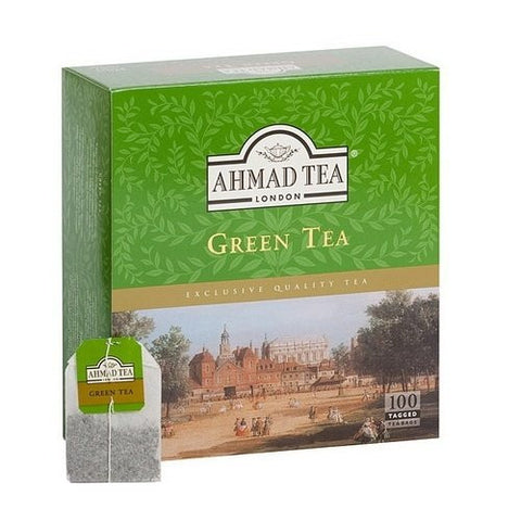 Ahamd Tea of London : Green Tea 100 Tagged Teabags  from Ahmad Tea