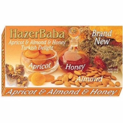 Hazer Baba Apricot Almond Honey Turkish Delight 454gr
