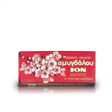 Ion Bademli Sutlu Cikolata - Milk Chocolate With Almond 200 Gr ( 7 Oz )
