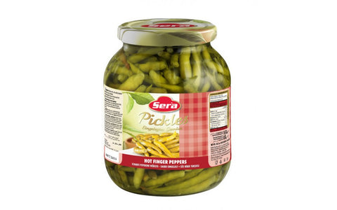Sera Frenk Aci Biber Tursusu - Pickled Hot Peppers In Brine 1550 Gr ( 3.4 Lbs )