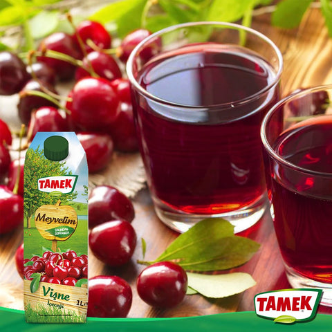 Tamek Visne Suyu - Sour Cherry Fruit Juice 200 Ml ( 6.7 Fl Oz )